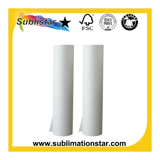 45gsm 64inch Jumbo Rolls Sublimation Paper For High Speed Inkjet Printer